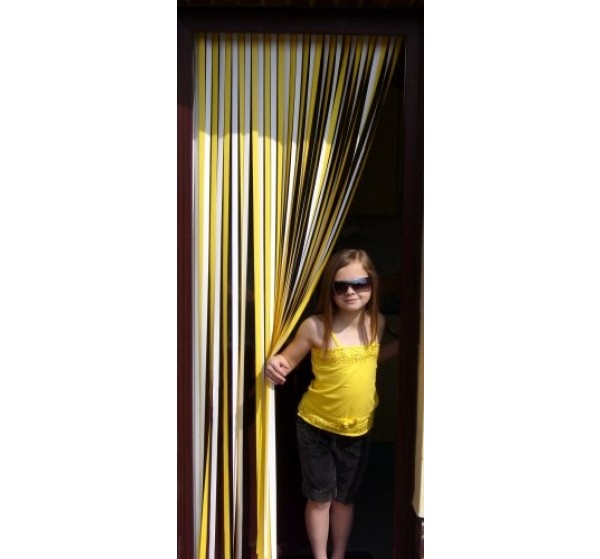 Tube Type Blinds - Yellow and White