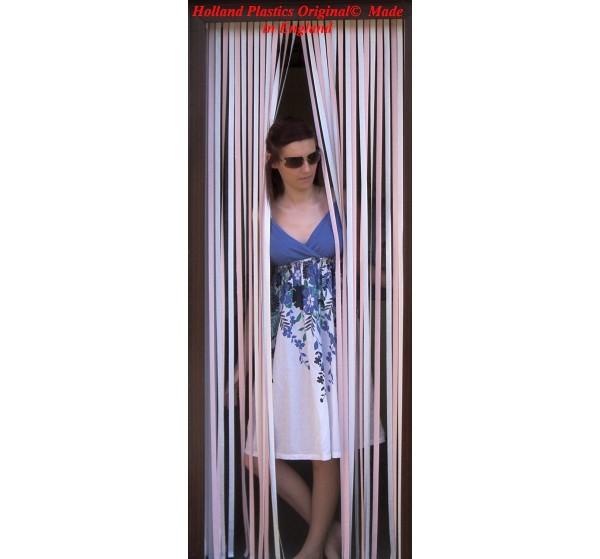Heavy Duty Bug Blind,Fly Blind,Strip Blind, Door Blind-PASTEL PINK/WHITE