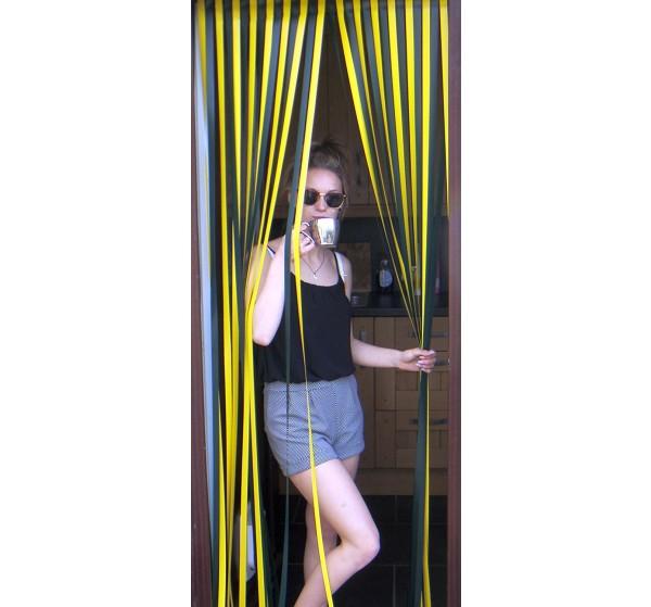 Heavy Duty Bug Blind,Fly Blind,Strip Blind, Door Blind-DEEP GREEN/YELLOW