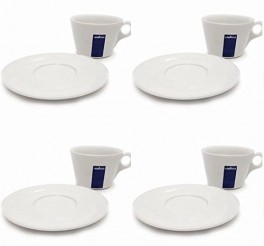 Lavazza Americano Cup and Saucers X 4