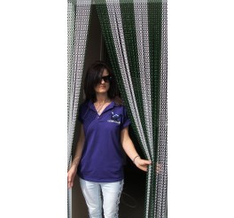 Premium Silver and Green Coloured Aluminium Chain Blind - 90cm