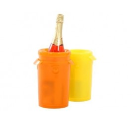 THERMOS - SUPER DRINKS COOLER- YELLOW-CHILLS BOTTLES FAST & UP TO SIX HOURS!