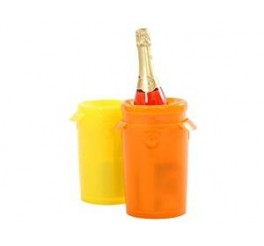 THERMOS - SUPER DRINKS COOLER- ORANGE-CHILLS BOTTLES FAST & UP TO SIX HOURS!