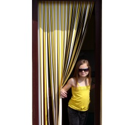 Caravan / RV Blind in Yellow and White