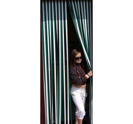 Tube Type Blinds - Green and White