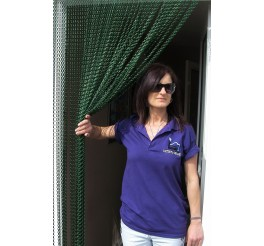 Premium All Green Coloured Aluminium Chain Blind - 90cm