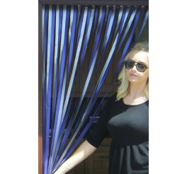 Heavy Duty Bug Blind,Fly Blind,Strip Blind, Door Blind-PURPLE/SILVER